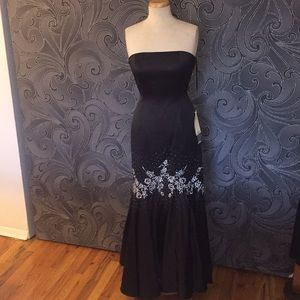Strapless Satin Beaded Formal/Prom Dress